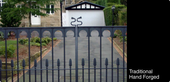Automated Residential Hand Forged Gates