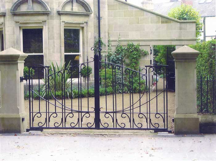 Automated traditional hand forged gates